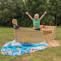 Outdoor Wooden Adventure Boat